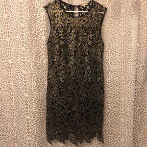 Black and Gold Shift Dress